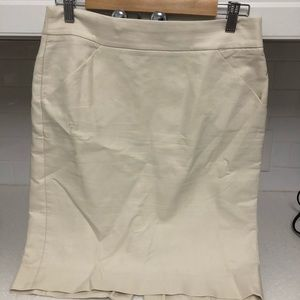 JCREW FACTORY The Pencil Skirt. 4. Cream